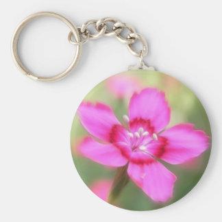 Dianthus Deltoides Flowers  - Close Up Keychain