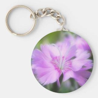Dianthus Plumarius Flower Keychain