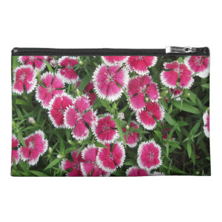 Dianthus White Pink Travel Accessory Bag