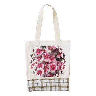 Dianthus Zazzle HEART Tote Bag