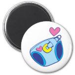 Diaper baby 2 inch round magnet