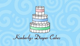 Baby diaper cake business cards templates zazzle diaper cake business cards reheart Choice Image