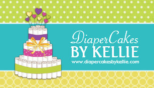 Diaper cakes business cards templates zazzle diaper cake business cards reheart Choice Image