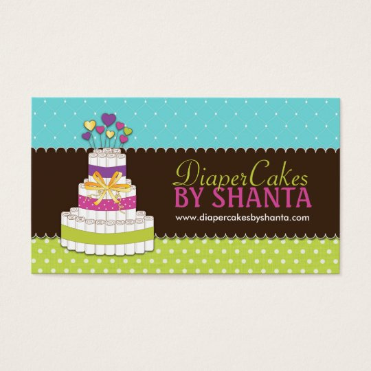 Diaper cake business cards zazzle diaper cake business cards colourmoves