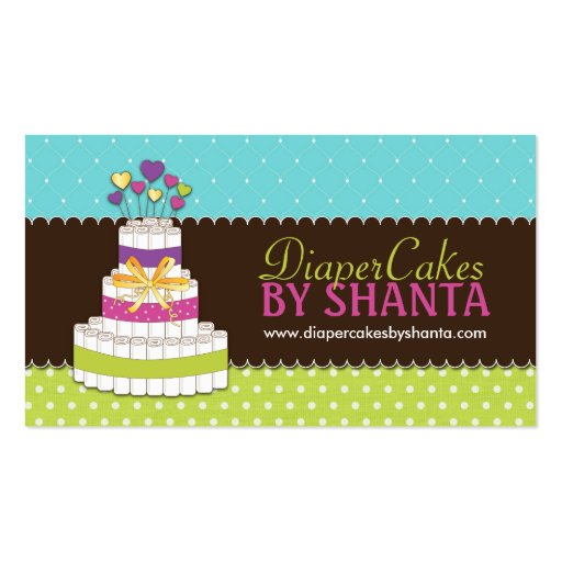 Diaper Cake Business Cards (front side)