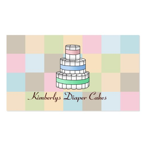 Diaper cake business business card templates bizcardstudio diaper cake business cards reheart Choice Image