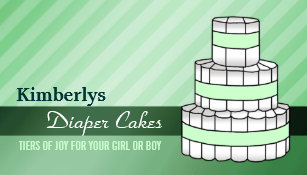 Diaper cake gifts on zazzle diaper cake business cards reheart Choice Image