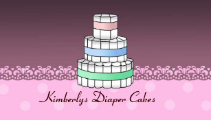 Baby diaper cake business cards templates zazzle diaper cakes business cards reheart Choice Image
