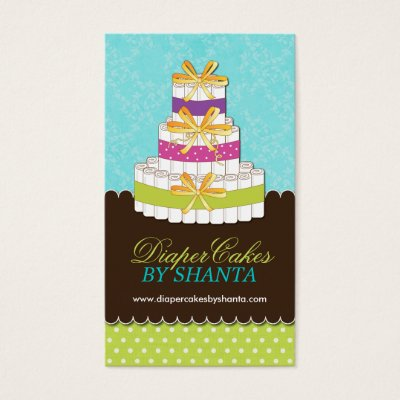 Diaper cakes business cards zazzle reheart Choice Image