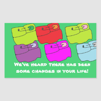 Diaper changes in life..Congrats Rectangle Stickers