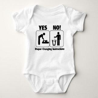 Diaper Changing Instructions Tee Shirt