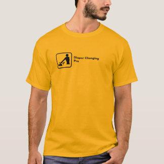 Diaper Changing Pro (small logo) T-Shirt