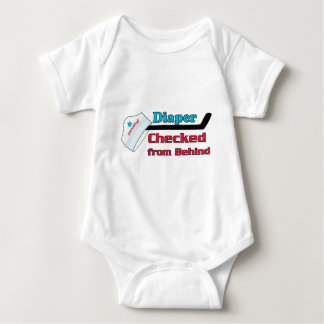 diaper checked t shirt