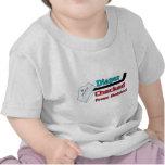 diaper checked tee shirt