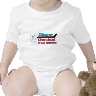 diaper checked baby creeper