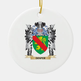 Diaper Coat of Arms - Family Crest Double-Sided Ceramic Round Christmas Ornament