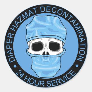 Diaper Hazmat Decontamination Classic Round Sticker