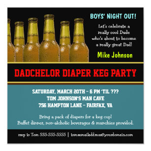 Diaper Party Invitations Announcements Zazzle