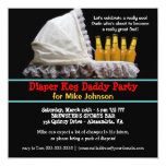 Diaper Keg Party Invitations - New Dad Baby Party