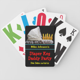 Diaper Keg Poker Personalized Playing Cards
