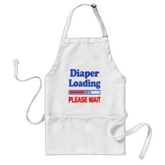 diaper loading please wait adult apron