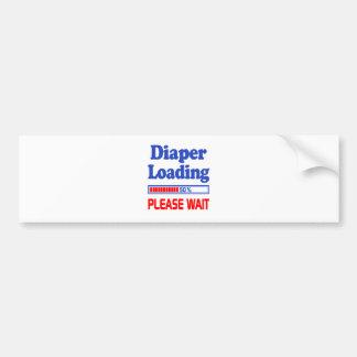 diaper loading please wait bumper sticker