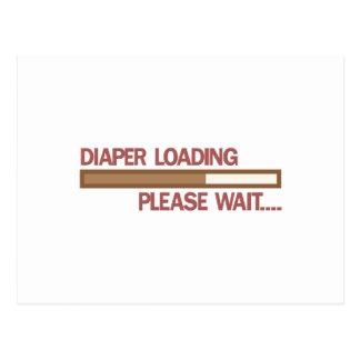 Diaper Loading Please Wait.... Postcard