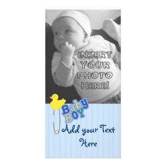 Diaper Pin Duck Baby Boy Card