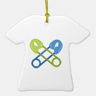 Diaper Pins Double-Sided T-Shirt Ceramic Christmas Ornament