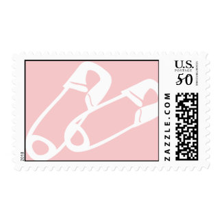 Diaper Pins Pink Postage
