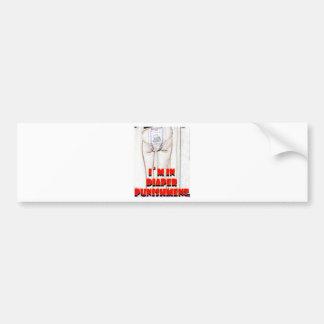 Diaper Punishment Car Bumper Sticker