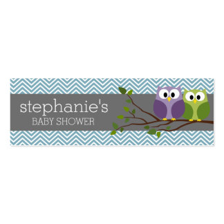 Diaper Raffle Game - Blue Baby Boy Shower Mini Business Card