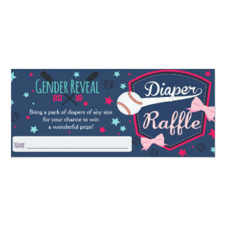 diaper raffle - gender reveal card