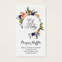 Diaper Raffle Insert Floral Modern Watercolor
