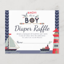 Diaper Raffle Nautical Sailboat Ahoy Baby Boy Game