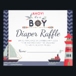 """Diaper Raffle Nautical Sailboat Ahoy Baby Boy Game Flyer<br><div class=""""desc"""">Ahoy! It&#39;s a BOY! Sail right into your special day with this cute nautical baby design. Sweet seagulls, boats and lighthouse create the perfect marine party theme for mommy-to-be. • Personalize it! Follow the template to add your text, or click the &quot;Customize&quot; button to make in-depth changes to fonts, text...</div>"""
