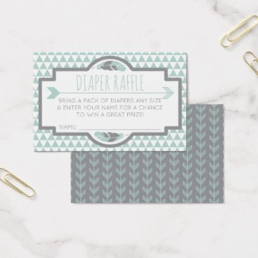 Aztec Themed Diaper Raffle Ticket, Aztec, Arrows, Tribal Business Card