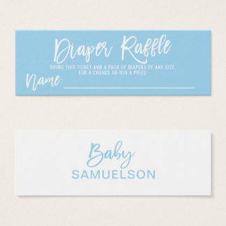 DIAPER RAFFLE Ticket Blue BOY Baby Shower