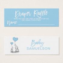 DIAPER RAFFLE Ticket Blue Elephant Baby Shower