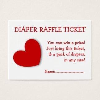 Diaper Raffle Ticket Cute Heart Gender Neutral