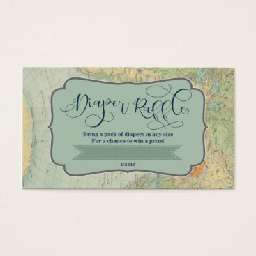 Professional Business Diaper Raffle Ticket for an Adventure Baby Shower