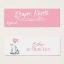 DIAPER RAFFLE Ticket Pink Elephant Baby Shower