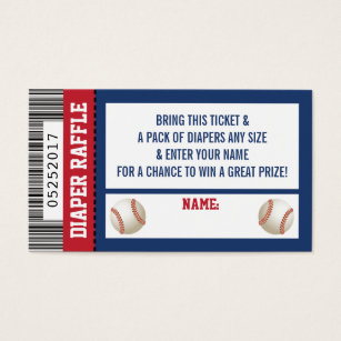 Sports business cards templates zazzle diaper raffle ticket sports baseball baby shower business card colourmoves Image collections