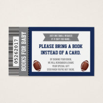Diaper Raffle Ticket, Sports, Football Baby Shower Business Card