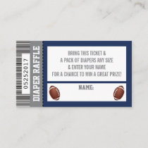 Diaper Raffle Ticket, Sports, Football Baby Shower Enclosure Card