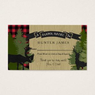 Diaper Raffle Ticket Woodland Deer Antler Baby Boy