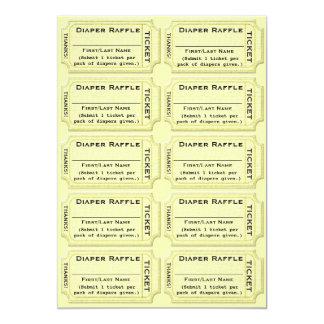 Diaper Raffle Tickets Baby Shower Card