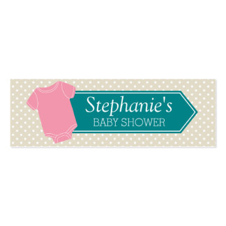 Diaper Raffle Tickets - Baby Shower Game Pink Girl Pack Of Skinny Business Cards