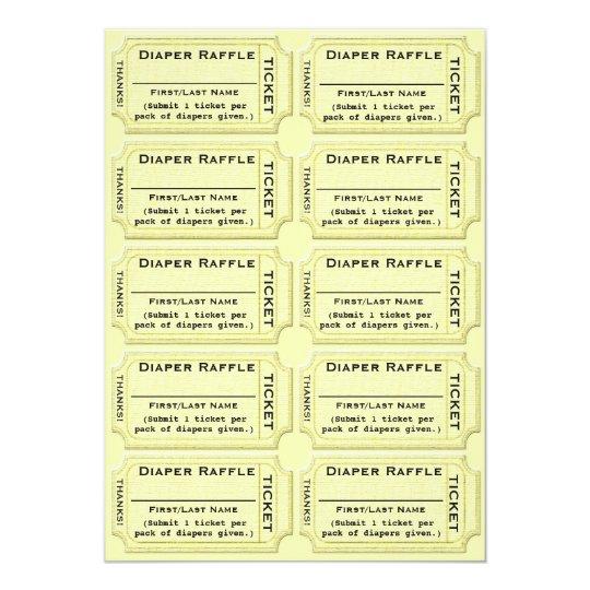 Diaper raffle tickets baby shower invitation zazzle diaper raffle tickets baby shower invitation filmwisefo
