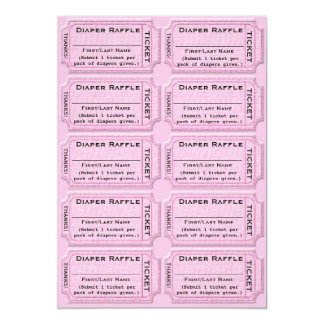 Diaper Raffle Tickets Cute Baby Shower Card